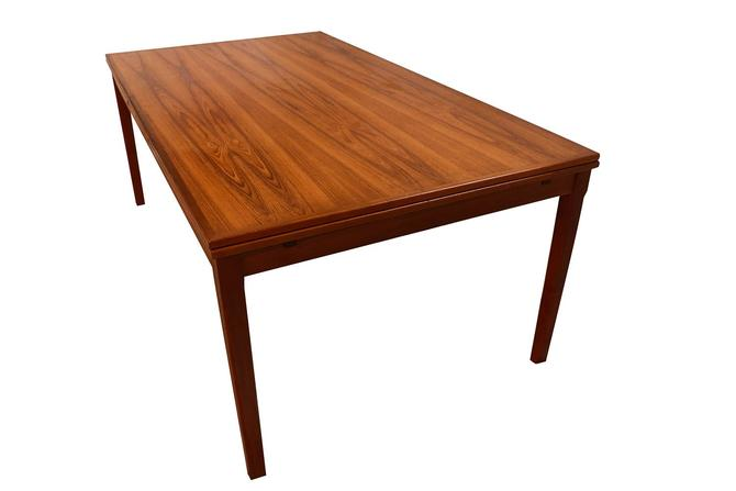 Danish Teak Extra Large Expanding Dining Table with 2 Leaves by Marykaysfurniture