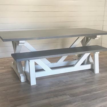 Modern Farmhouse X Dining Table by HickoryandHaze