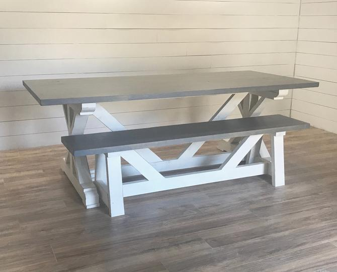 Modern Farmhouse X Dining Table by HickoryandHaze