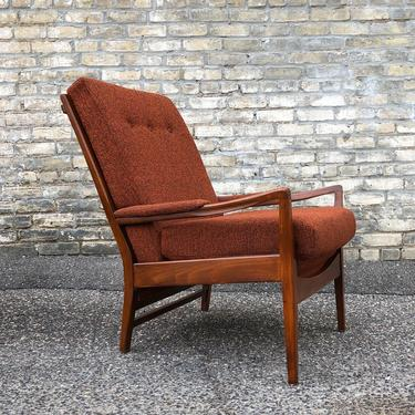 High Back Mid-century Lounge Chair