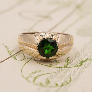 Russian Tsavorite Garnet Ring c1930