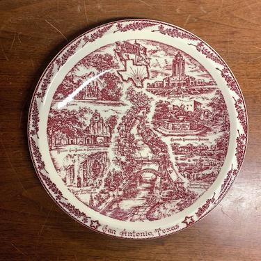 Vintage Vernon Kilns San Antonio Texas Plate for Joske Bros Company by OverTheYearsFinds