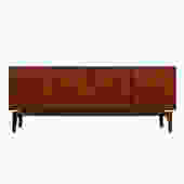 Hans Olsen Danish Teak Floating Sideboard / Room-Divider