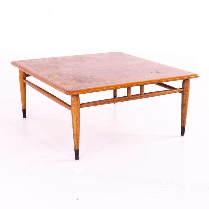 Andre Bus for Lane Acclaim Mid Century Square Walnut and Oak Side End Coffee Table - mcm by ModernHill