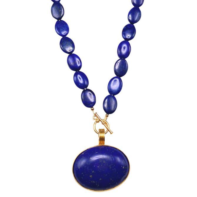 Double Lapis Necklace