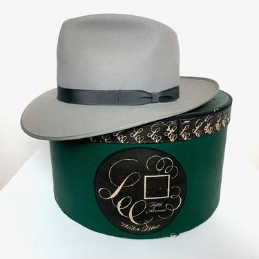MINTY Vintage 1950s LEE Fedora w/ Box~ size 7 1/4 ~ Stetson Whippet Style ~ Bound Edge ~ Work Wear ~ Wide Brim by SparrowsAndWolves