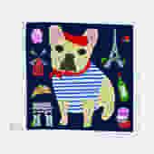 Bonjour Frenchie French Bulldog Pot Holder
