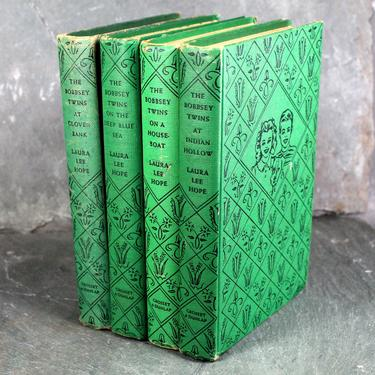 Set of 2 Bobbsey Twins Books by Laura Lee Hope - Volumes 2 & 32 - Vintage, Classic Children's Novels  | FREE SHIPPING by Bixley