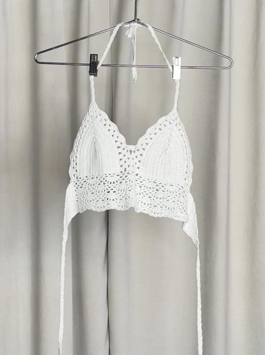 Vintage Crochet Knit Crop Top