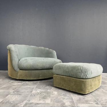 Milo Baughman Tub Chair and Ottoman