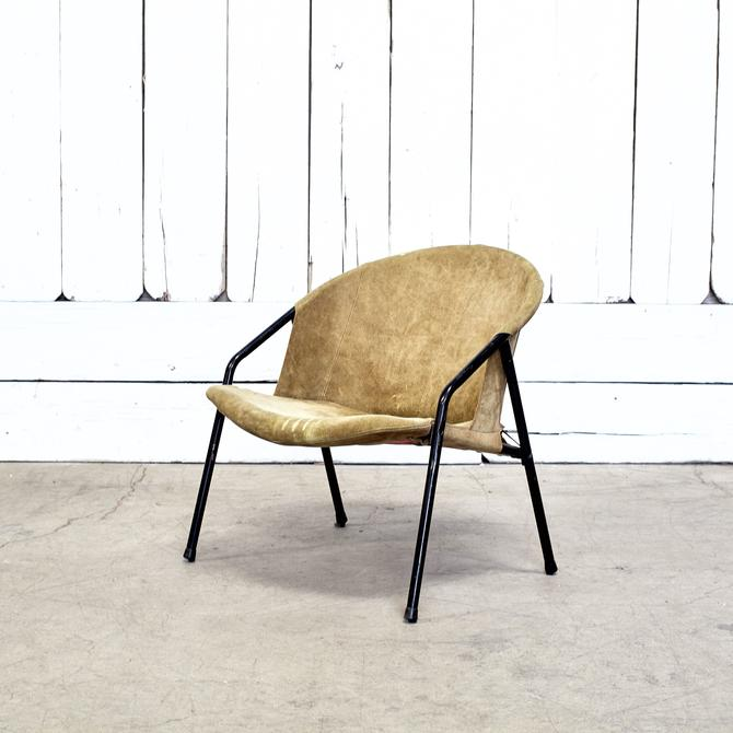 Green Suede Occasional Chair