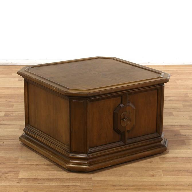 Brandt Furniture Co Cabinet End Table W Gold Hardware From