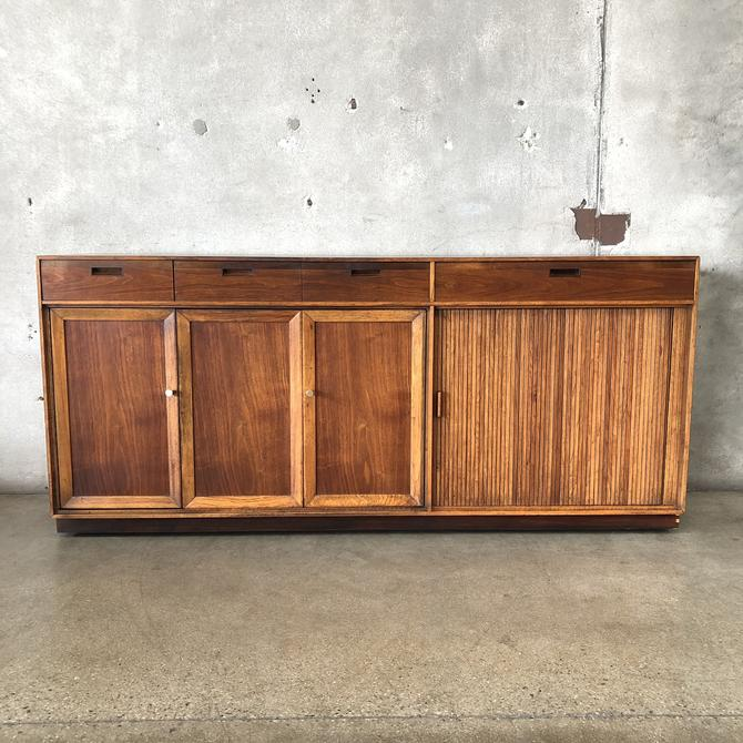 Mid Century Modern Tambour Door Credenza / Buffet