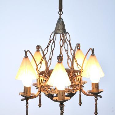 Bar Harbor Storybook Style 5 Light Chandelier #2107 by vintagefilament
