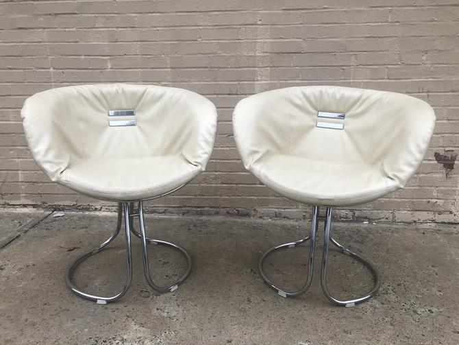 Italian chrome cantilever chairs
