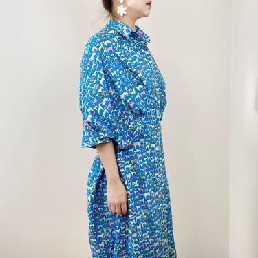 Blue animal shirts dress by shopjoolee