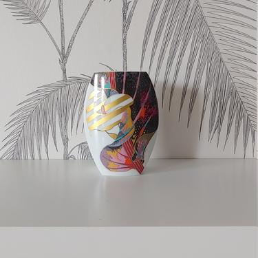 Vintage Rosenthal Vase, Porcelain, Signed Brigitte Doege, Calla Lily, circa 80's by colortheoryBoston
