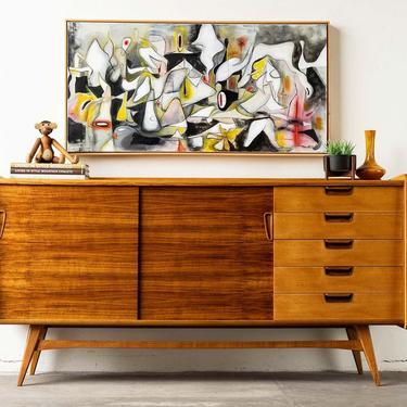 Vintage Swedish Teak, Oak and Walnut Sideboard Buffet by formermodern