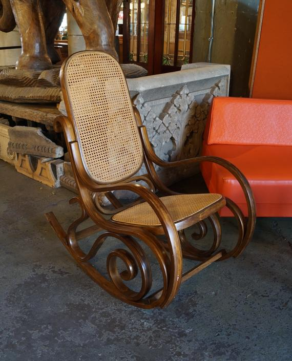 Thonet Style Cane Rocking Chair
