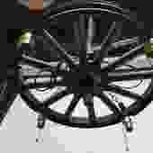 Vintage Wood Wheel 5 Bulb Hanging Light (23.25