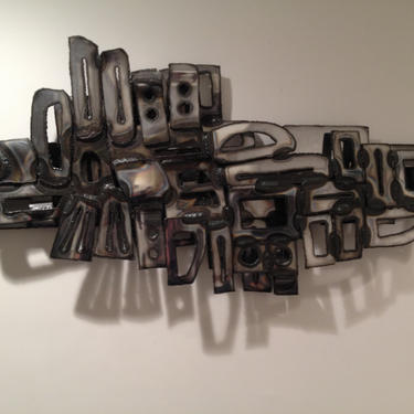 Vintage Mid Century Wall Art  Sculpture by Todd Pendleton by DanishGarage