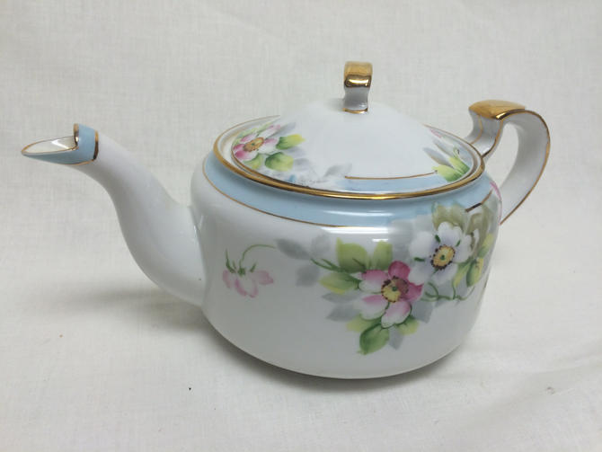 Hand Painted Nippon China Tea Pot With Roses by TheFleaMarketHouse ...