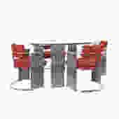 Thayer Coggin Chrome Dining Set by Milo Baughman