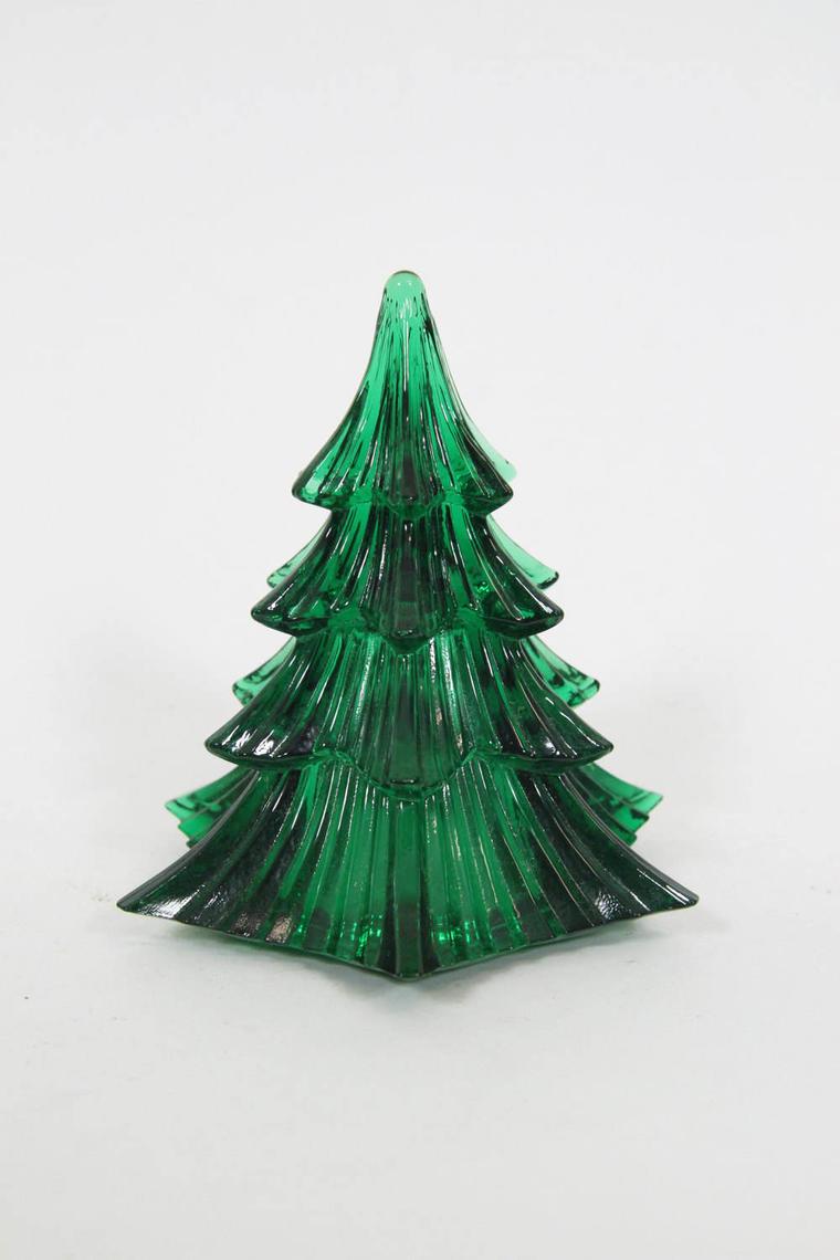 Vintage Art Glass Green Dalzell Viking Christmas Tree By
