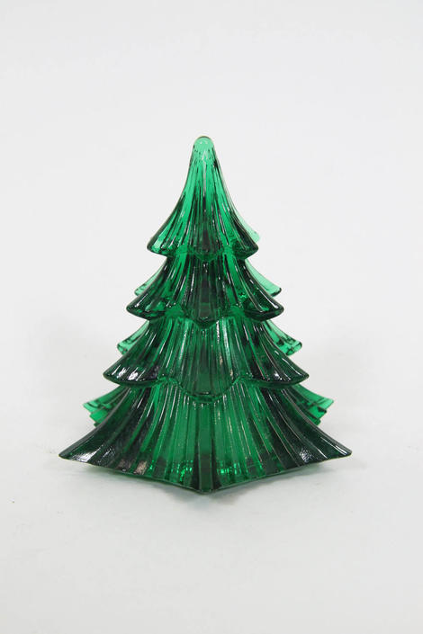 Vintage Art Glass Green Dalzell Viking Christmas Tree By