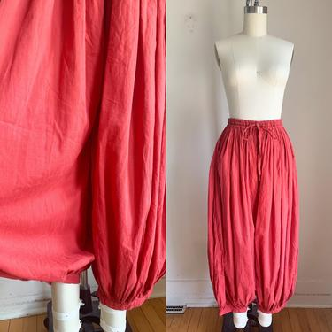 Vintage 1970s Rust Red Indian Cotton Balloon Pants / S/M by MsTips