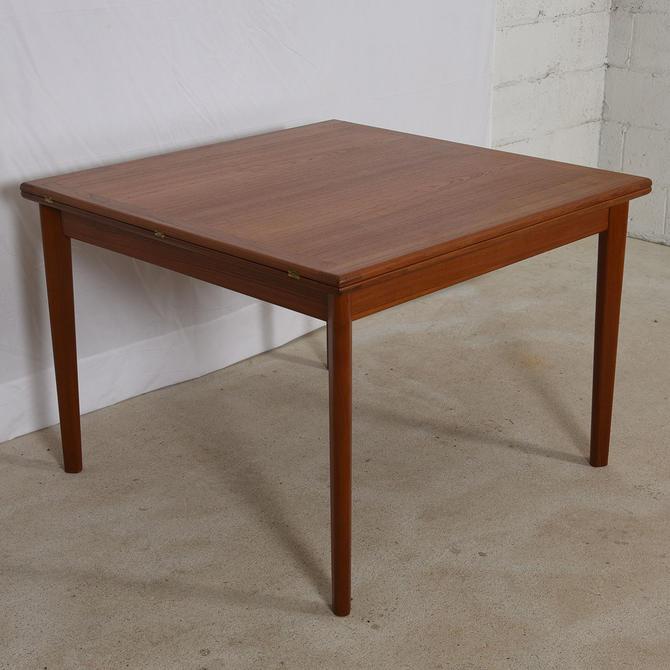 Expanding Danish Folding-Square Teak Game Table