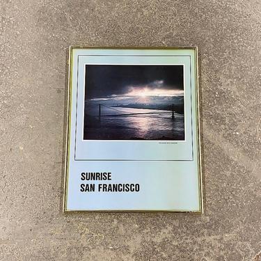 Vintage Sunrise San Francisco Poster 1980s Retro Size 23x18 Contemporary + Golden Gate Bridge + California + M Lachenmyer + Home Wall Decor by RetrospectVintage215