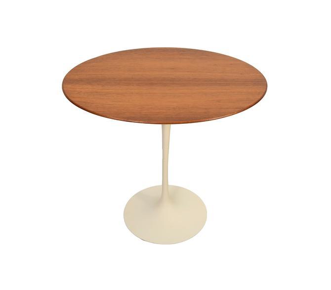 Knoll Eero Saarinen White Tulip Base Table Walnut Oval Top Mid Century Modern by HearthsideHome