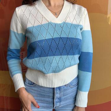 70's Argyle Knit Sweater by laloupevintage