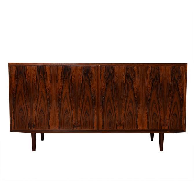 Rosewood Condo-Sized Locking Door Storage Cabinet \/ Sideboard