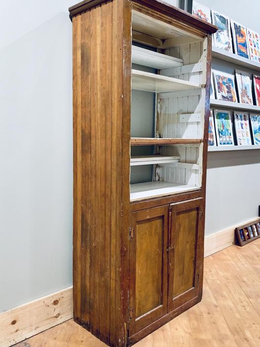 Beadboard Cupboard | Beadboard Cabinet | Wood Cupboard | Double Sided Cupboard | Antique Cupboard by PiccadillyPrairie
