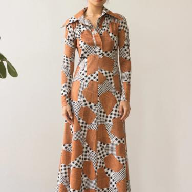1970s Patchwork Print Maxi Dress by waywardcollection