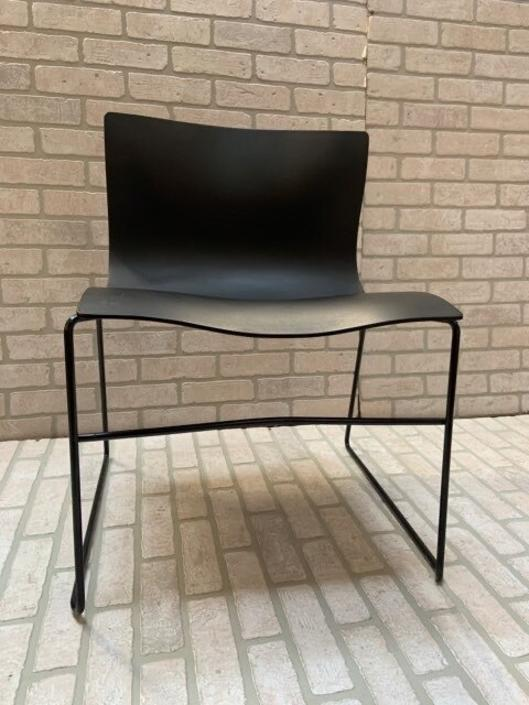 Mid Century Modern Massimo and Lella Vignelli for Knoll Handkerchief Chairs in Black - 5 Piece Set