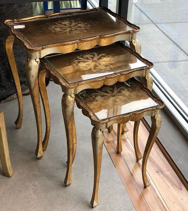 Set of three Italian nesting tables!