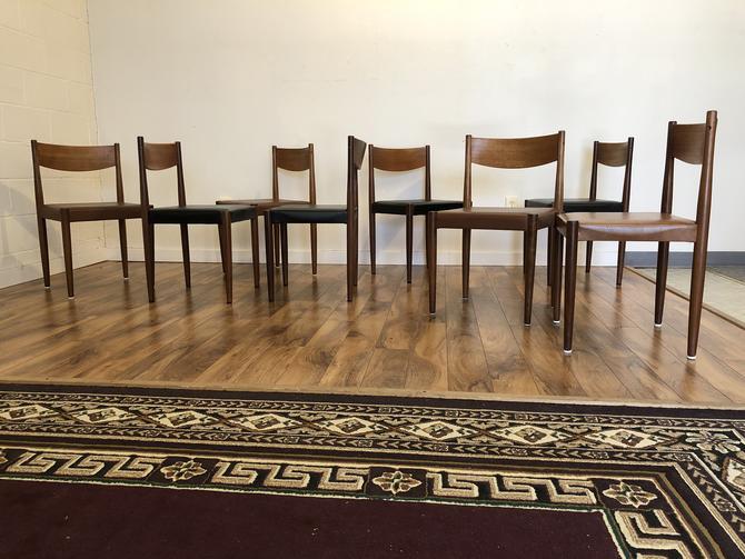 Frem Rojle Danish Teak Dining Chairs, Set of 8