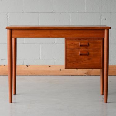 3ft Børge Mogensen Danish Modern Mid Century Teak Desk by MadsenModern