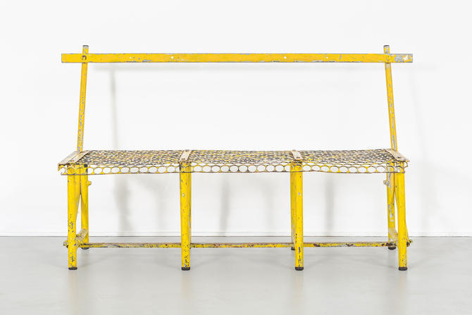 Yellow Industrial Bench by MatthewRachman