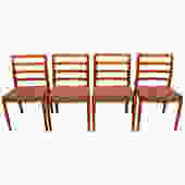 Set of 4 Danish Teak Niels Moller (#85) Dining Chairs