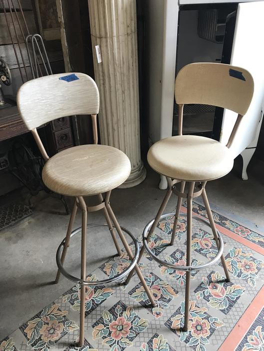 Cute metal mid century bar stools $45 for the pair