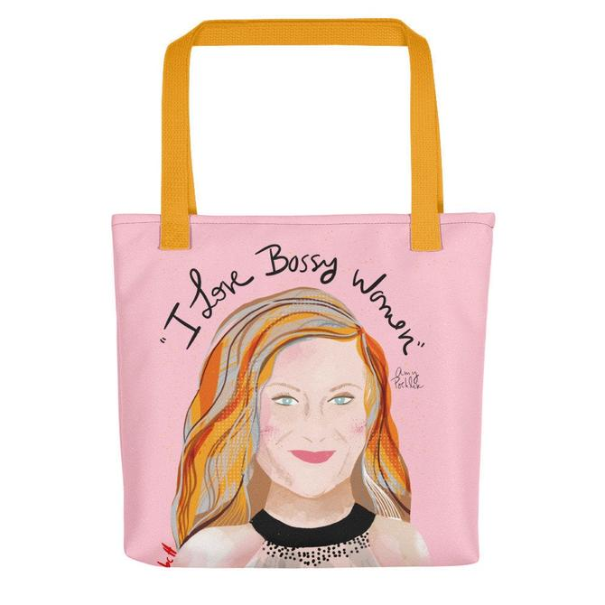 Tote bag Amy Poehler - Carry all bag- Fun gift by VioletredStudio