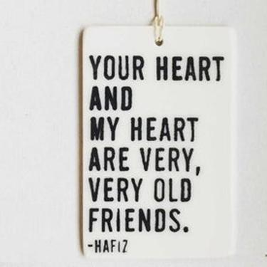 Your Heart & My Heart Porcelain Tag