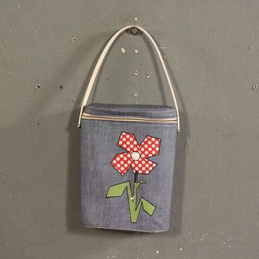 Retro Floral Golf Thermos with Bag