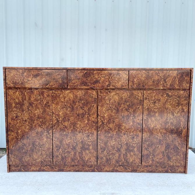 Vintage Modern Faux Burlwood Sideboard or Credenza by secondhandstory
