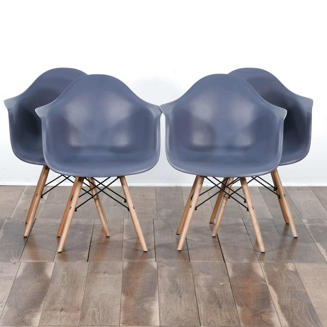 Set Of 4 Modernist Molded Bespoke Dining Chairs 2