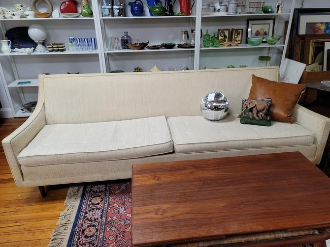 Selig Mid-Century Modern Sofa in Cream